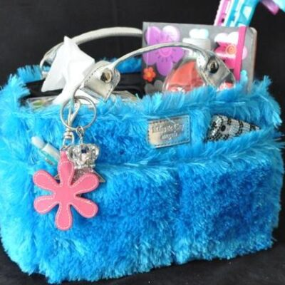 Kiss & Cry Angels Fluffy Turquoise Bag